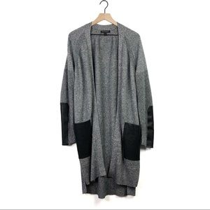 Banana Republic Faux Leather Knit Duster Cardigan